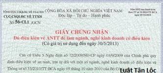 Thủ tục xin giấy phép an ninh trật tự (nguồn internet)
