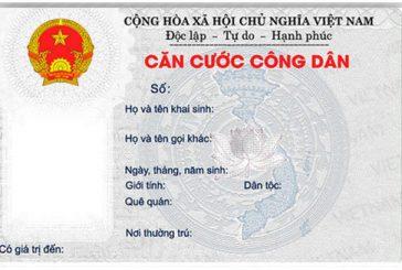 Thủ tục làm thẻ căn cước công dân