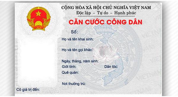 Thủ tục làm thẻ căn cước công dân (nguồn internet)