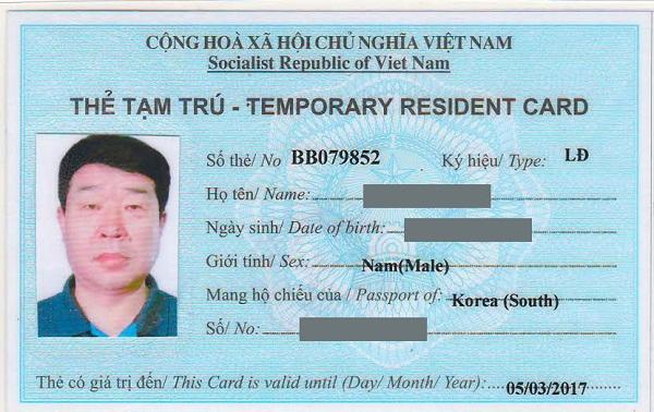 Dịch vụ xin cấp thẻ tạm trú cho người nước ngoài tại Nghệ An
